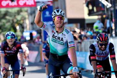 Giro d'Italia: Sagan ért be elsőként, átvette a ciklámen trikót